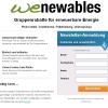 wenewables – Gruppenrabatte für erneuerbare Energie