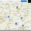 Fußballspiele auf einer Karte im Blick