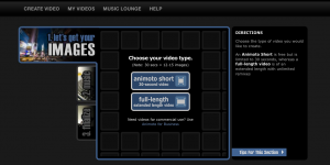 animoto-Video-Auswahl
