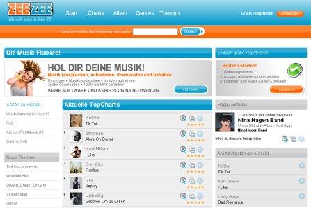 » ZEEZEE - Musik aus den Charts kostenlos und legal downloaden