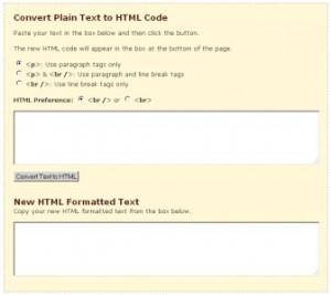 text in html umwandeln online